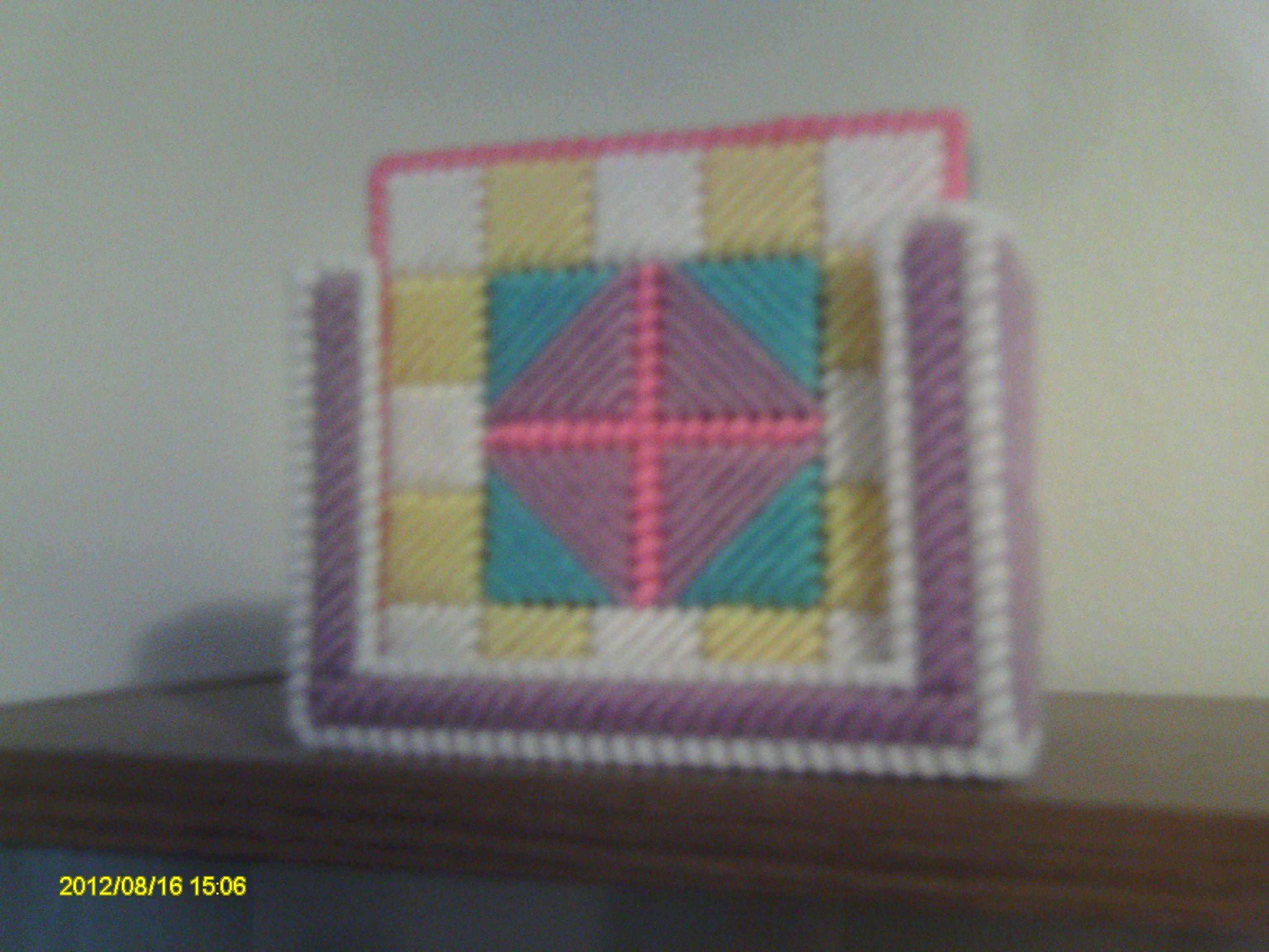34b35780cf7e Quilt Block Coaster Sets. 4 coasters per set.  6. Plastic Canvas ...