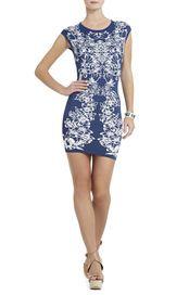 Ellena Luxe Floral Jacquard Dress