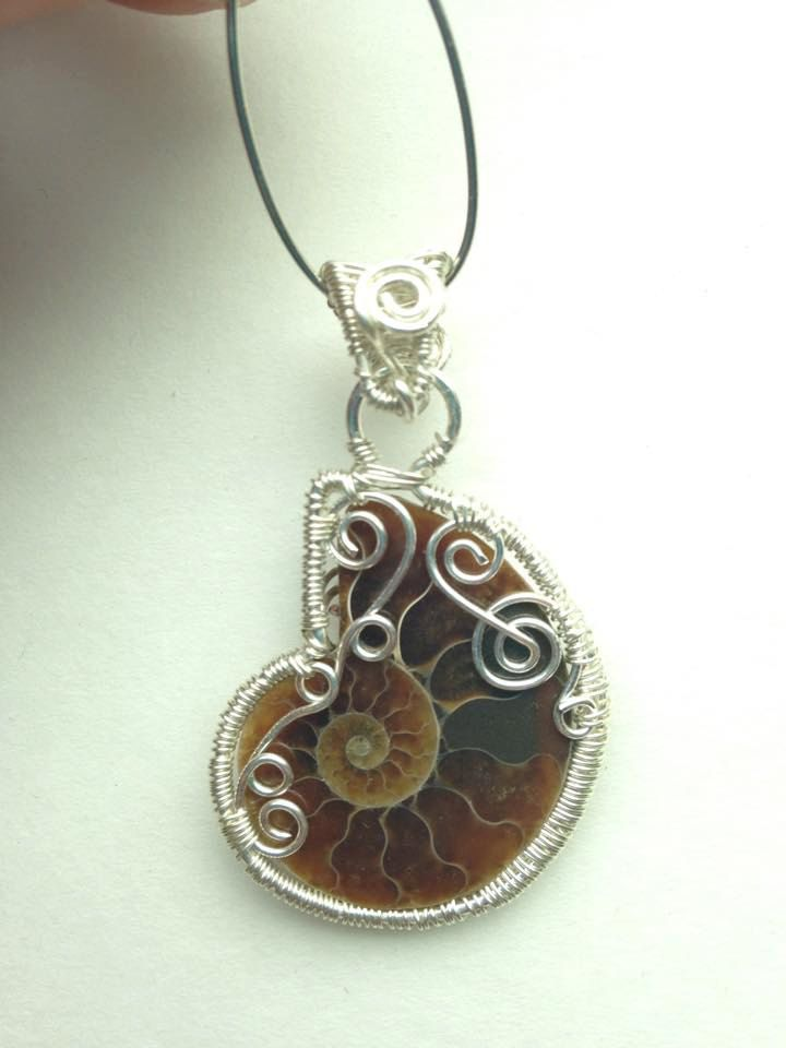 Wire wrapped ammonite pendant fossil pendant opalized ammonite wire wrapped ammonite pendant fossil pendant opalized ammonite pendant ammonite necklace ammonite jewelry made in usa aloadofball Image collections