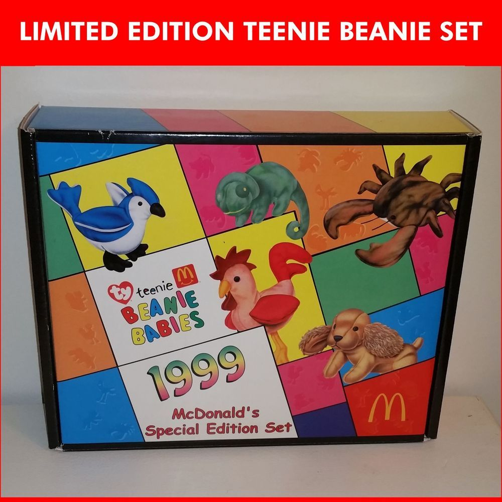 RARE -  TY Teenie Beanie Baby McDonalds Limited Edition Collector Happy  Meal Set  TY 0f6bae6521bd