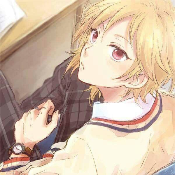 Anime Cute Boy With Blonde Hair Red Eyes And School Uniform Blonde Hair Anime Boy Blonde Anime Boy Anime Guys