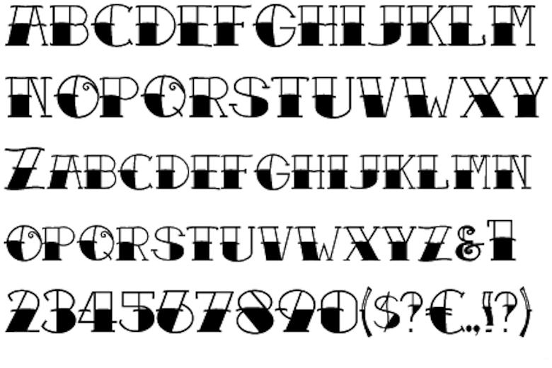 tattoofonts Tattoo lettering fonts