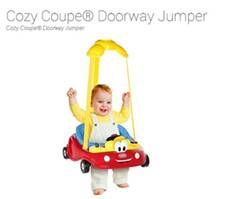 Doorway Jumper    From car seats and travel accessories to Cozy Coupe® gear, Little Tikes® from Diono® will offer bright, bold and safe products to families available at buybuy Baby, Babies 'R' Us and other major retailers nationwide.  The line includes 3 key products (below) Sit & Play Bouncer, Cozy Coop® Doorway Jumper.  Products range from $14 - $54 and are suitable for children ranging from newborn to 4 years old.  http://us.diono.com/littletikes