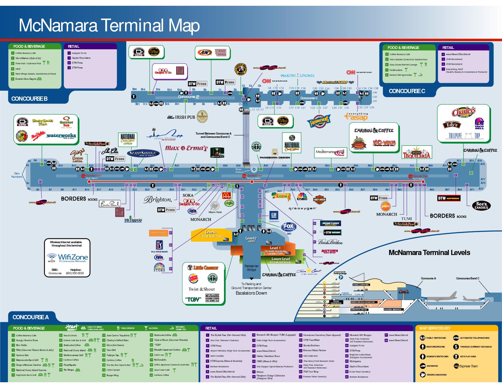 detroit airport delta gates  mcnamara terminal map food beverage foodbeverage retail food beverage. detroit airport delta gates  mcnamara terminal map food beverage
