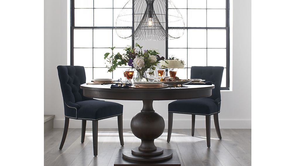 Winnetka Round Extendable Table From Crate And Barrel Round Dining Room Round Extendable Dining Table Dining Table