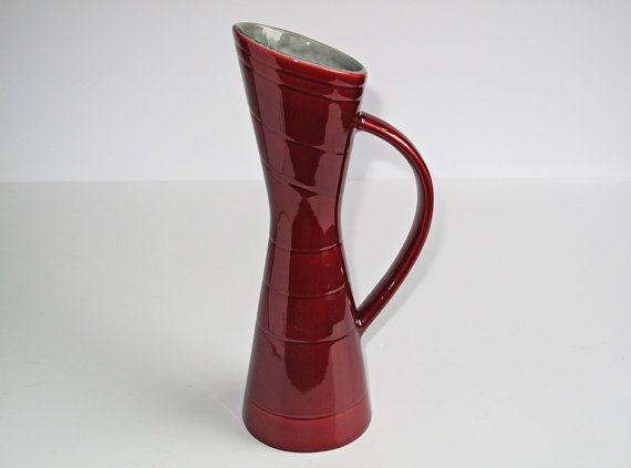 Rörstrand behandelt rot Vasen aus der von 20thCenturyStudio auf Etsy