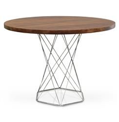Palecek Pedestal Industrial Modern Solid Wood Round Dining Bistro Table Dining Table In Kitchen Pedestal Dining Table Round Dining Table