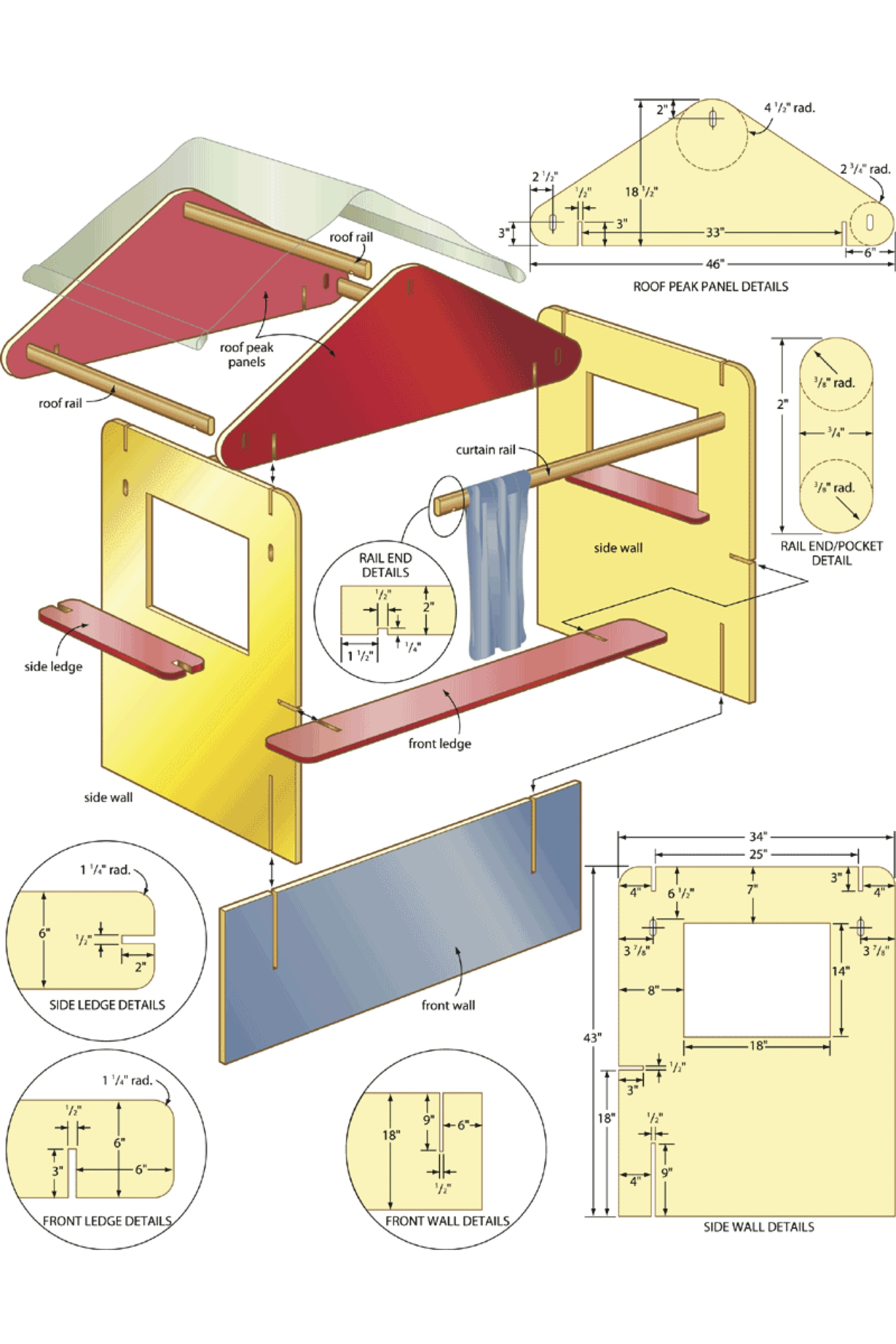 Woodworking Projects Plans: Kids Puppet Theater Woodworking Plans 2