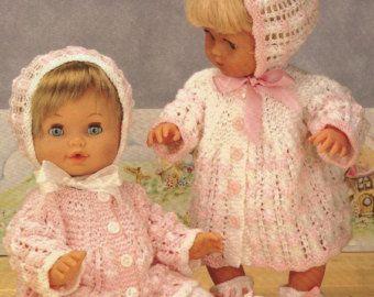 Dolls Clothes Knitting Pattern For 10 Inch Dolls By Bopeepstore Baby Stricken Strickmuster Baby Babypuppe Kleidung