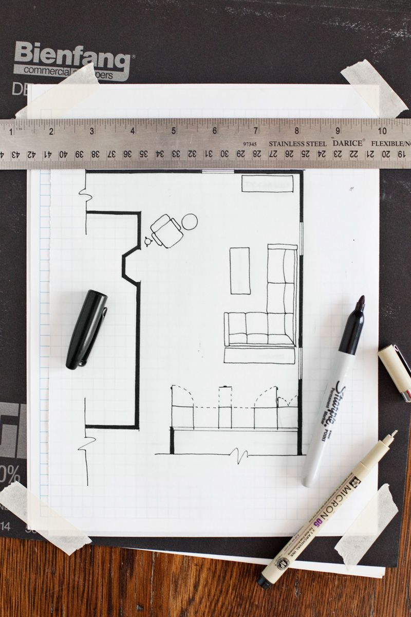 How To Draw A Floor Plan A Beautiful Mess Floor Plan Drawing