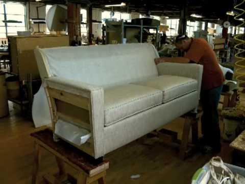 Reclining Sofa Timelapse Lean Manufacturing at Hallagan Furniture