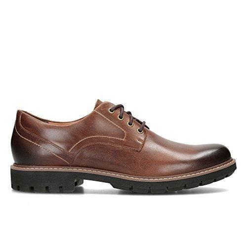 Unbekannt Zapatos de Cordones de Piel Para Hombre Marrón Marrón, Color Marrón, Talla 47 EU