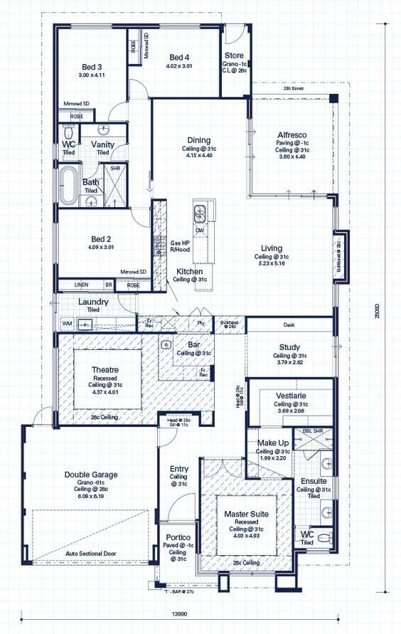Floor Plan Friday 4 Bedroom Entertainers Delight With Theatre Bar Floor Plans Bedroom Floor Plans How To Plan