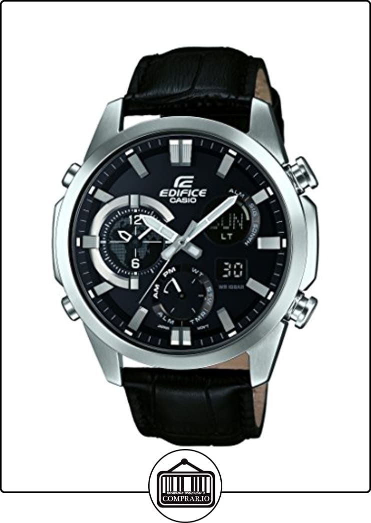 e7875b10e468 CASIO ERA-500L-1AER - Reloj analógico de cuarzo con correa de cuero para