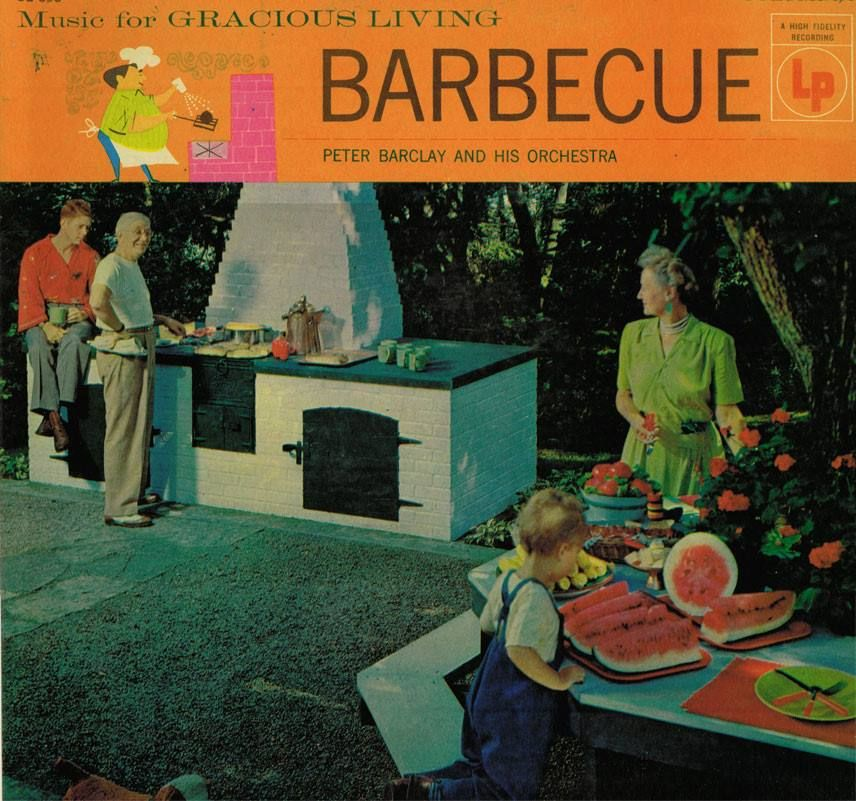 """""""Junior, stop sitting on the barbecue, and come it a small slice of watermelon."""""""