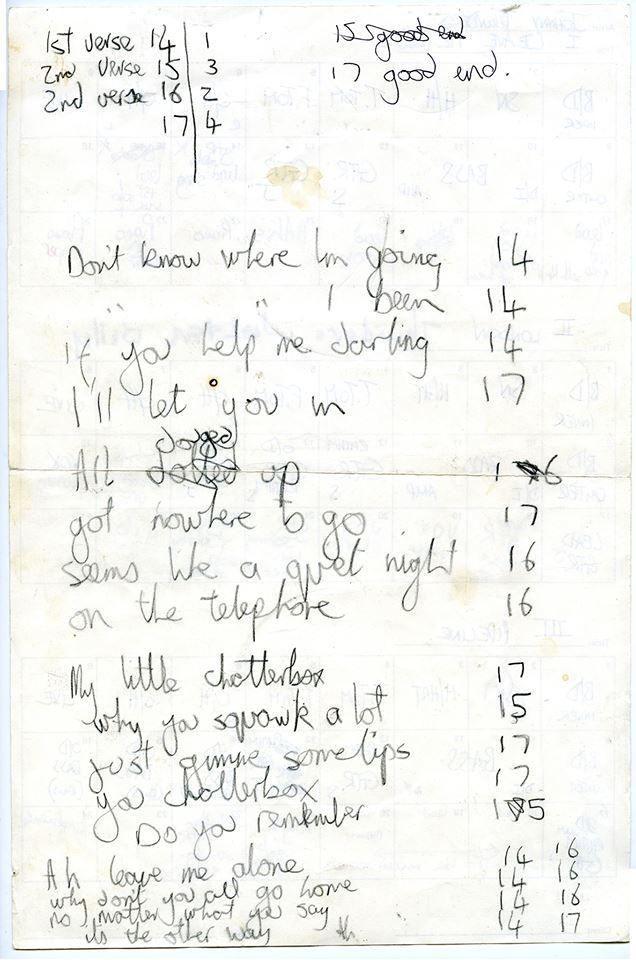 Best Steve Lillywhite S Handwritten Lyric On The Reverse Of The 400 x 300
