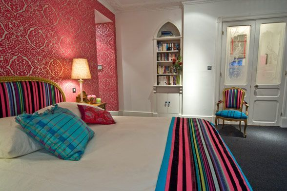 Large And Colouful House On Portland Road In London Turquoise And - Colorful-home-interior-on-portland-road-in-london