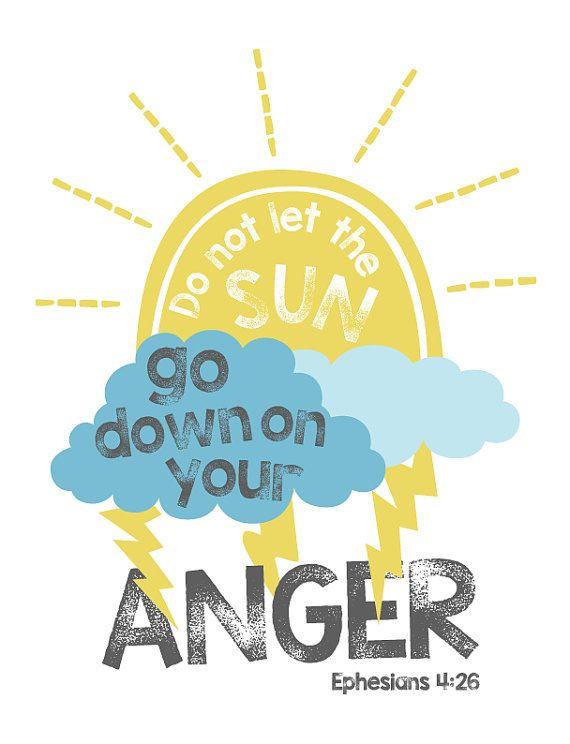 Anger Management - Ephesians 4:26 Bible Verse Wall Art Scripture ...