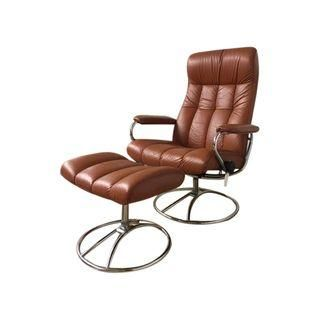lovely vintage ekornes leather recliner ottoman set chairs