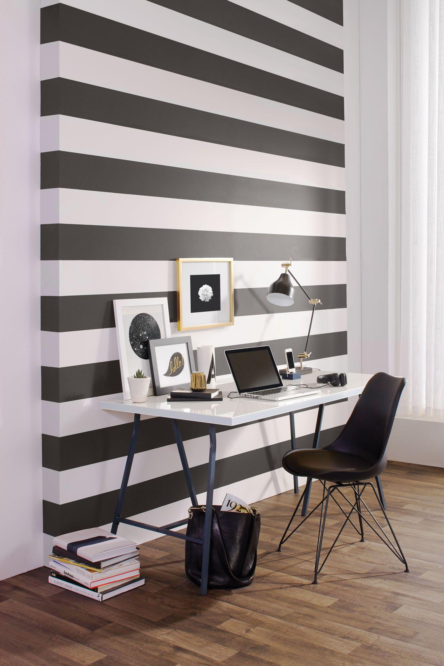 Bureau Noir Et Blanc peinture sico | le noir et blanc fait son grand retour dans
