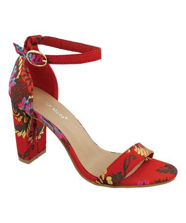0e3b7ec5abee Love this Red Floral Cammie Sandal on  zulily!  zulilyfinds ...