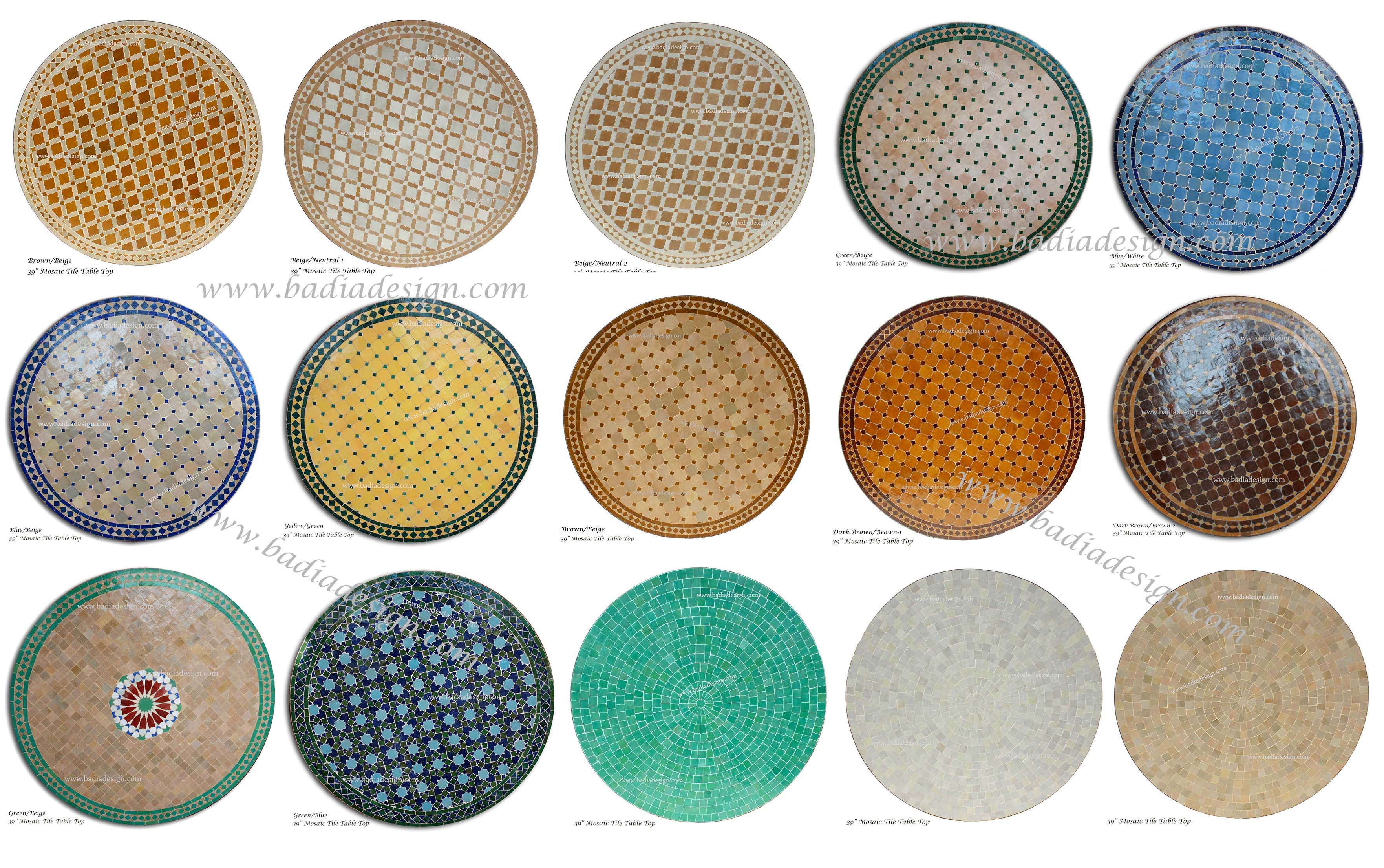 Tiled Round Tables Google Search