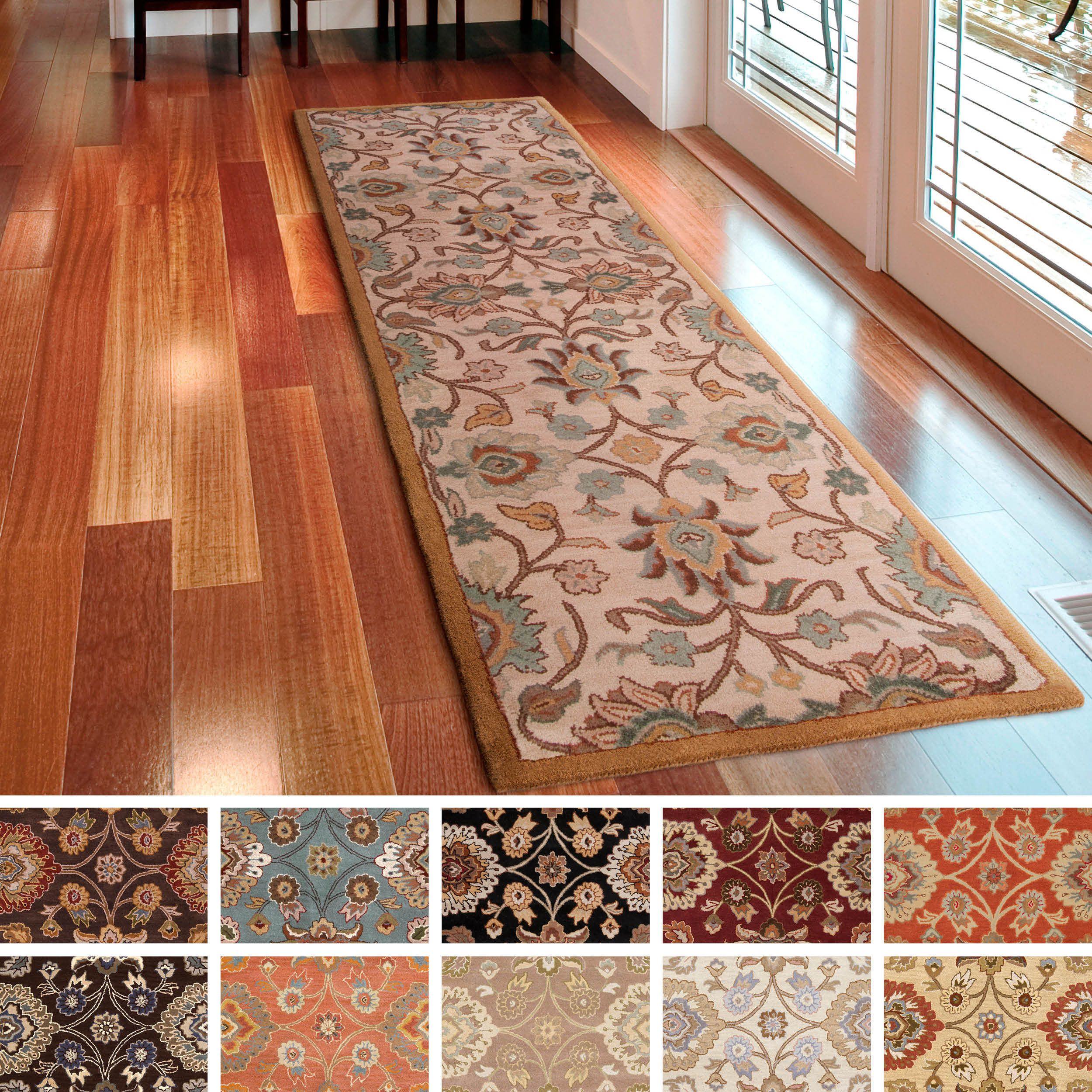 Hand Tufted Patchway Wool Rug 3 X 12 Overstock Com Shopping
