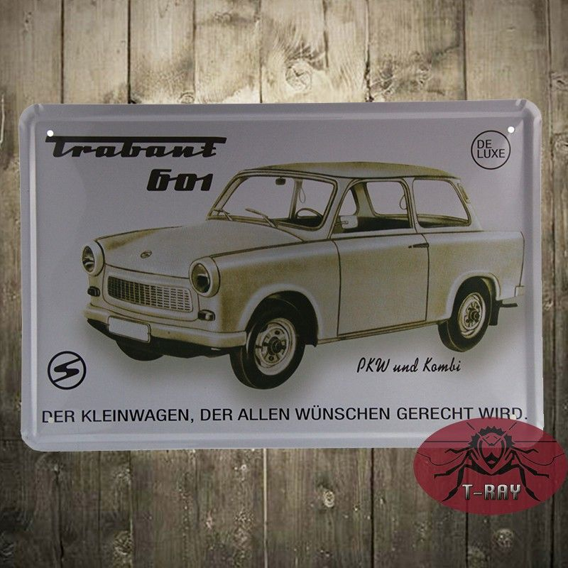 Metal crafts of wedding !! Classic Vintage car tin signs home decor