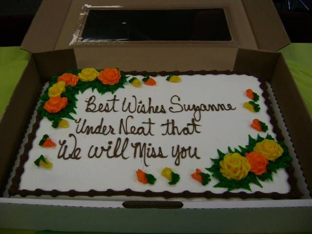Best Wishes Suzanne And Underneath That We Will Miss You Too Difficult For Wal Mart