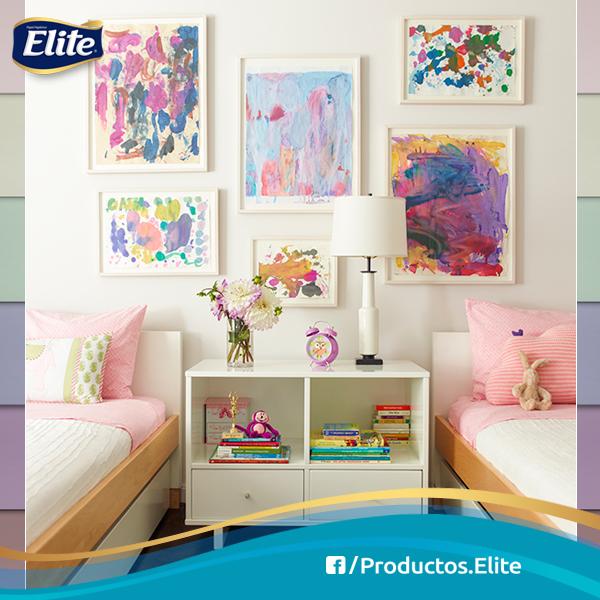 Deja que tus hijos creen su propio arte y hazlo parte de la decoración de su habitación. #TipsDeMamá #DIY #Casa