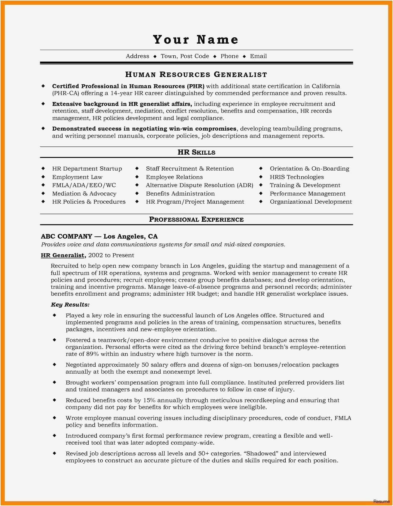 Example Html Email Template Code Best Of Download 30 New Resume