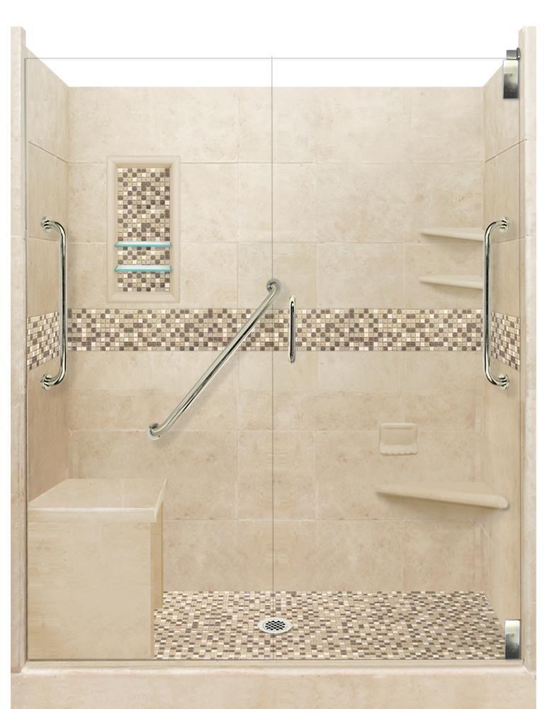 Roma Mosaic Freedom Alcove Shower Kit Alcove Shower Kits Shower Kits Shower Tile