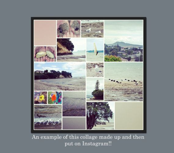 INSTANT DOWNLOAD - Digital Photo Collage Template - 12 x 12 - No14