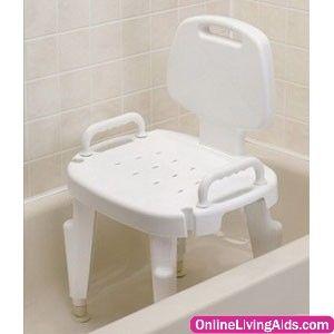 Maddak 727142121 Bath Safe Adj Shower Seat W Arms Back Box