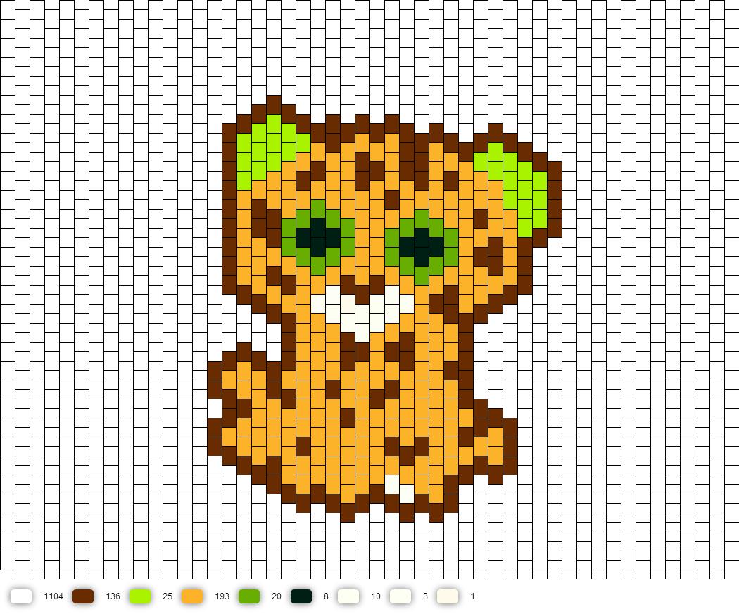 Speckles The Beanie Boo Cross Stitch Animals Perler