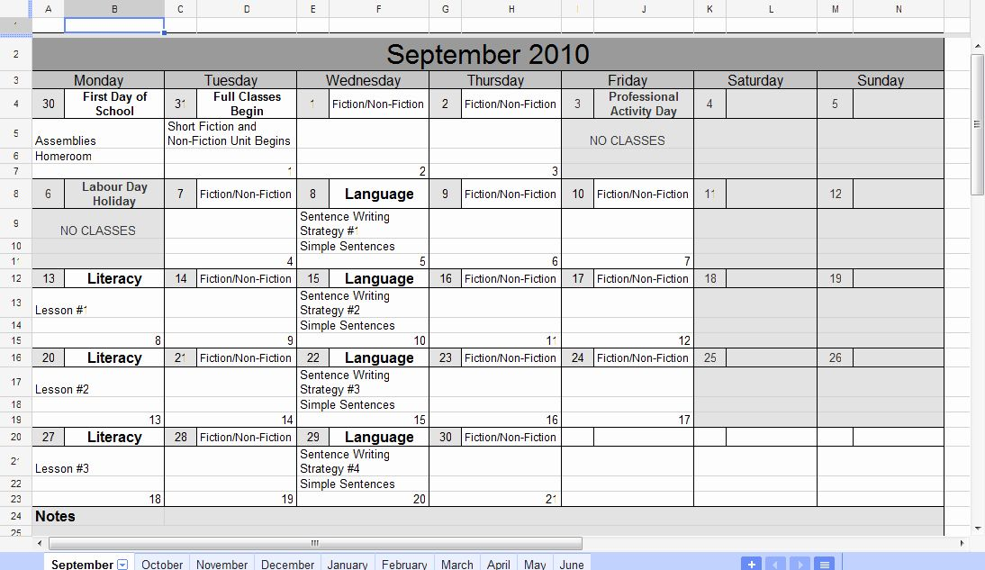 Calendar Template Google Docs Spreadsheet New Free 2018