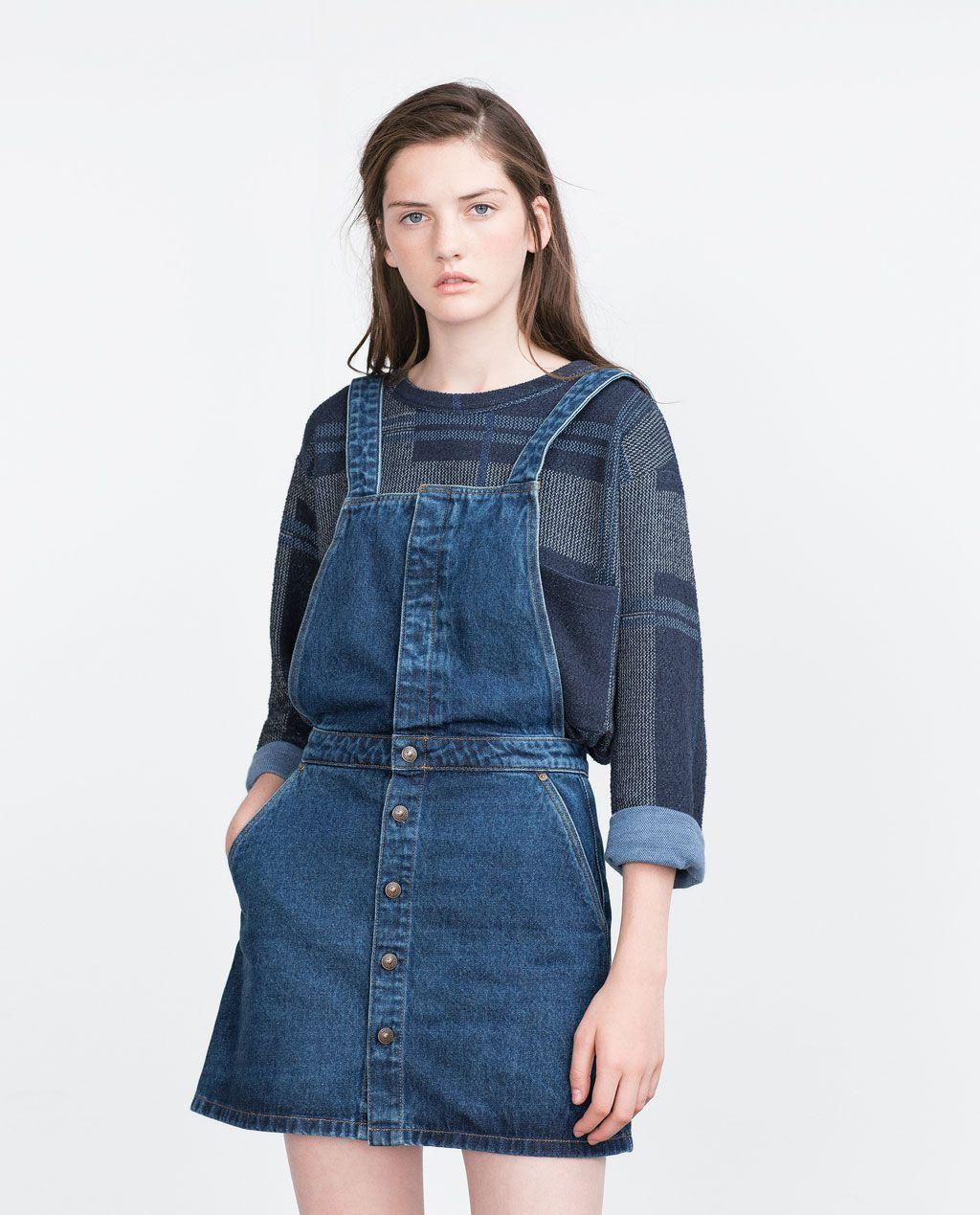 3de98b5bad RETRO PINAFORE DRESS-Mini-Dresses-WOMAN
