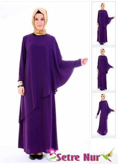 Setrms Kis Gunesi Elbise Mor Muslim Fashion Muslimah Dress Muslimah Fashion
