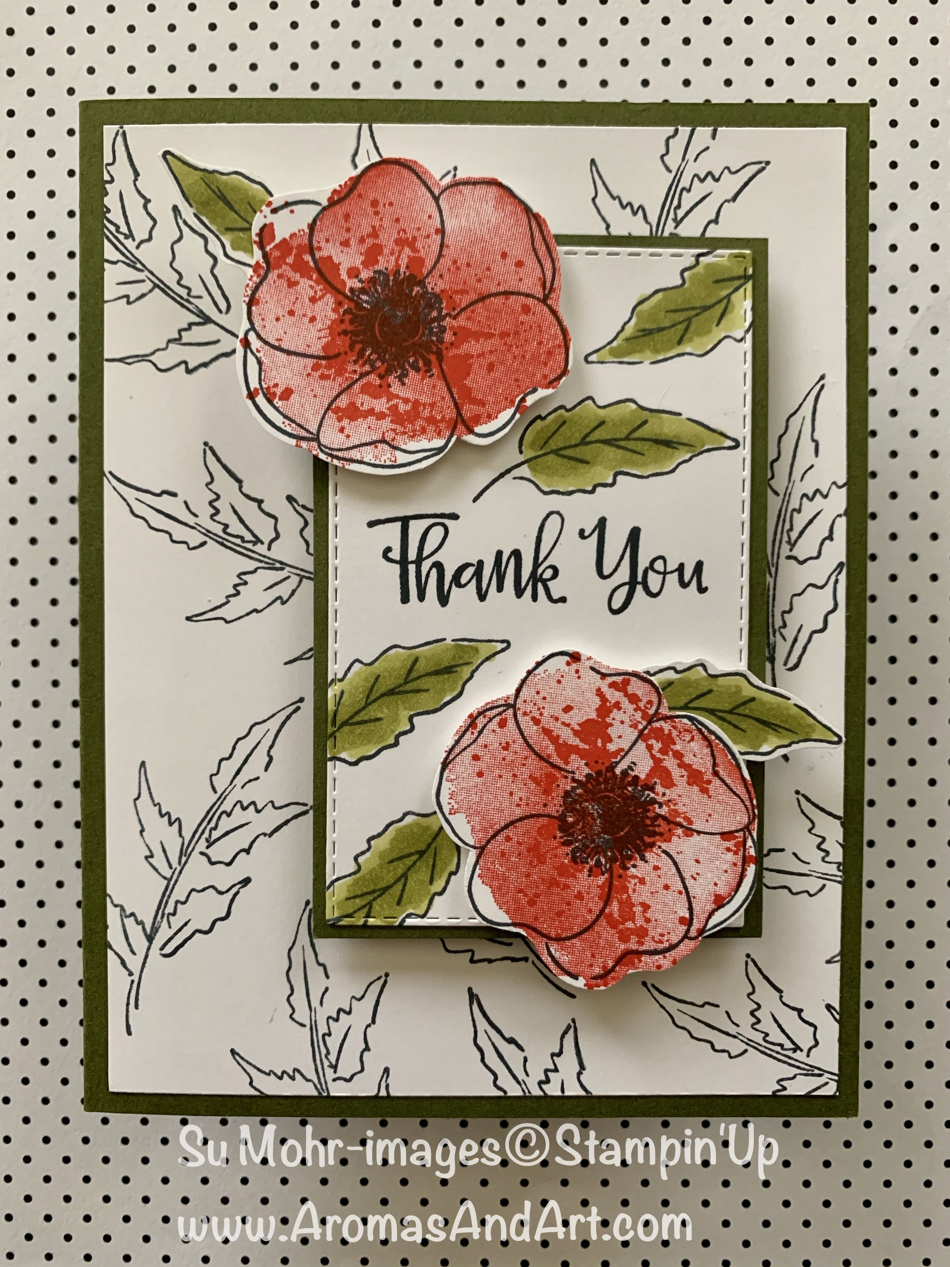 Sneak Peek Of The New Painted Poppies Stamp Set By Stampin Up Poppy Cards Flower Cards Floral Cards