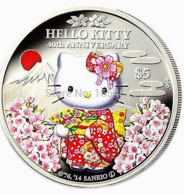 Hello Kitty Katze Silbermünze Silberbarren China Münze