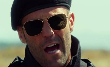 Jason Statham as Lee Christmas wore the classic aviator sunglasses ...