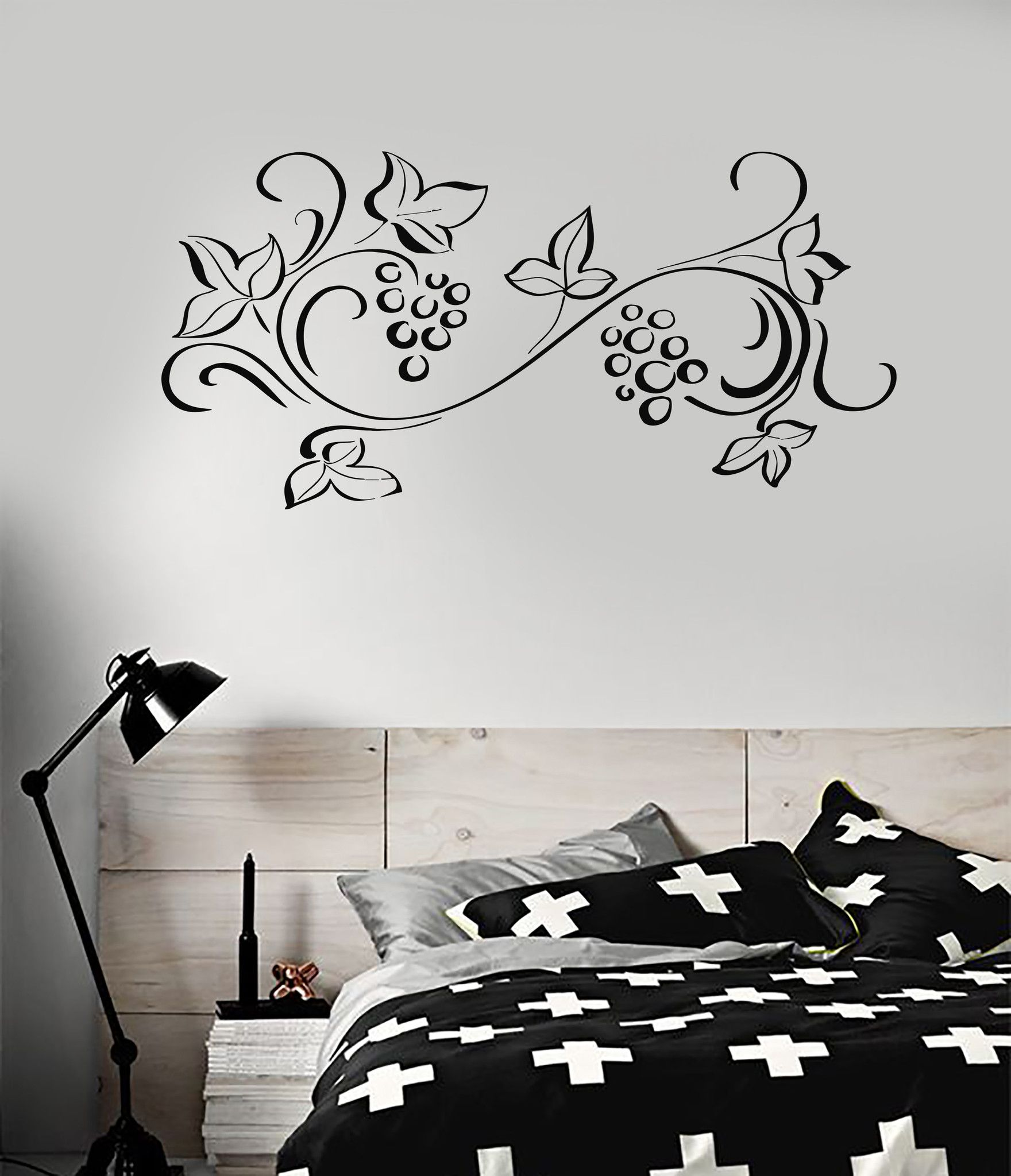 Vinyl Decal Floral Ornament Pattern Flower Room Decoration Wall Stickers (ig2771)