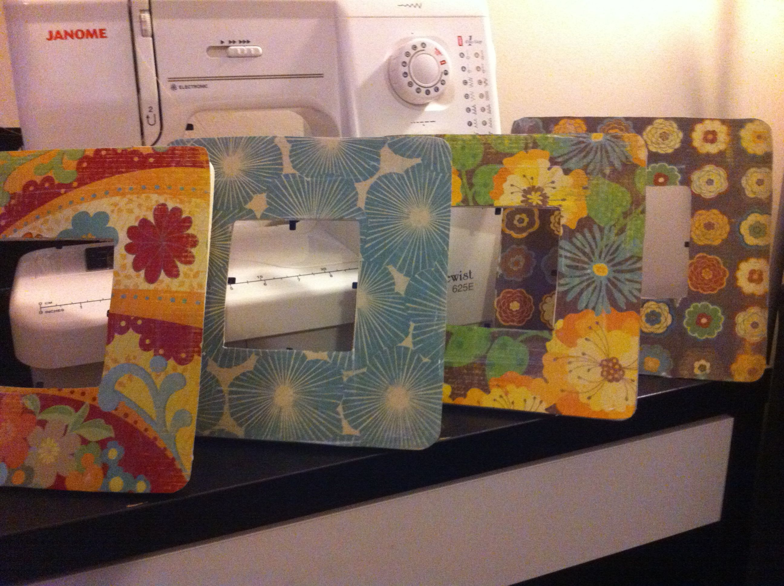 These are picture frames I found for $.97 at Walmart (unfinished ...