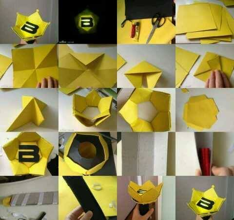 How To Make A Bigbang Paper Crownstick Well Vips Born To Be