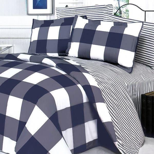 Gray Navy And White Bedroom: Navy And White Duvet Cover Set