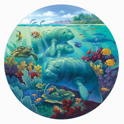 Wooden Manatee Jigsaw Puzzle