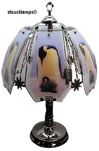 Etouchlamps Penguin Touch Lamp With Black Chrome Finish Amazon Most Trusted E Retailer Christmaslights Touch Lamp Lamp Vintage Lamps