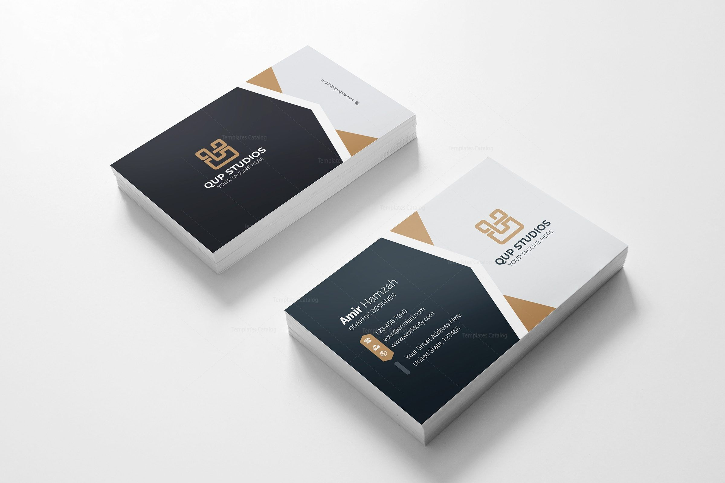 Studio Professional Business Card Design Template 001786 Template Catalog Business Card Template Design Business Card Design Photography Business Cards