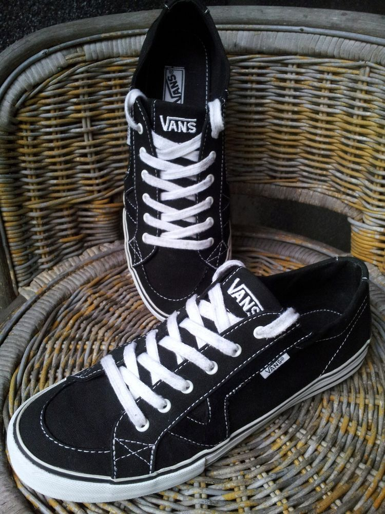 53cbc27092 Vans Tory Black Canvas Lace-up Skate Shoes Sneakers Women s Sz 9  Vans   SkateShoes