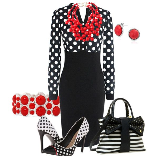 A fashion look from March 2015 featuring Penny Loves Kenny shoes, Betsey Johnson tote bags and Kenneth Jay Lane necklaces. Browse and shop related looks.